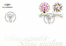 Iceland 2016 FDC Wild Icelandic Vegetation 2v S/A Cover Campion Flowers Stamps