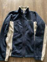 Columbia Sportswear Men's Small Blue & Gray Fleece Jacket