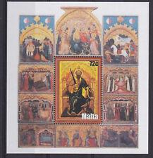 MNH MALTA STAMP SHEET 2004 WORKS OF ART SG MS1396