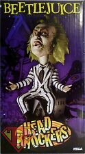 "BEETLEJUICE Movie Head Knockers Handpainted 8"" inch Bobble Head Neca 2006"