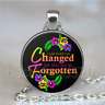 I Am Forever Changed You Will Not Be Forgotten Cabochon Glass Necklace#C183