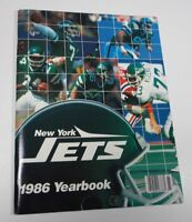 1986 NEW YORK JETS FOOTBALL YEARBOOK