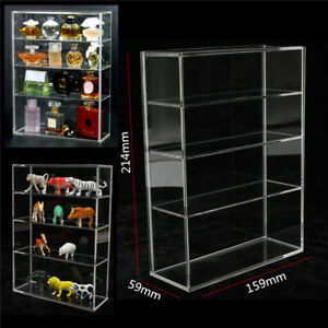 Clear Four-layer Acrylic Display Box Show Case Dustproof Sliding Door For