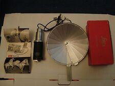 Vintage Leitz Flash Gun Complete, Flash Cable,Test lamp,