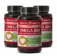 Fish Oil Concentrated OMEGA 8060.Product of Norway Pharmaceutical Grade 3Bottles