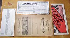 1930' & 1950's ADAMS PAINT CO. BROCURE, SALES BOOK, PRICE LIST, NOTES, & COUPON