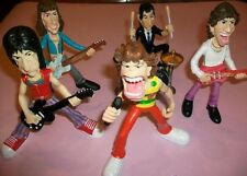 THE ROLLING STONES: CARTOONS DOLLS FIGURES -BRAND NEW SET-Box w/BIG PIN FREE!!!