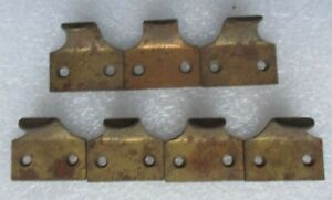 7 VINTAGE BRASS FINISH CAST IRON WINDOW SHUTTER LIFTS FILE DRAWER PULLS