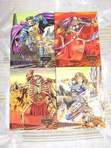 1995 Fleer Ultra Skeleton Warriors Uncut PROMO Card SHEET! DAGGER TALYN SHRIEK