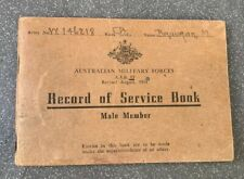 Original WW2 Australian Soldier's Service Book, named, Bougainville veteran
