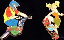 Hard Rock Cafe PHILADELPHIA 2001 Extreme Games 2 PIN BOX Skateboard Biker #48683