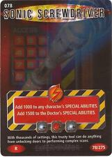 """Doctor Who Battles In Time Exterminator - Rare """"Sonic Screwdriver"""" Card #078"""