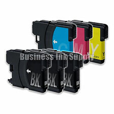 6 LC61 Ink Cartridges for Brother DCP-365CN DCP-385CW DCP-6690CN DCP-J125 LC61
