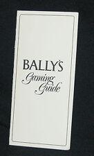 Bally's Gaming Guide Pamphlet LAS VEGAS