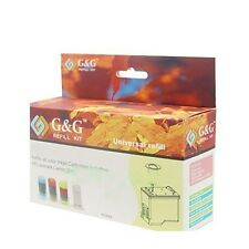 Universal Refill Kits For ALL COLOR INK Cartridges with cleaning solution, tools