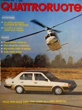 Quattroruote 340 1984 Prove Ford Orion 1300 cc. Audi 200 turbo. Mercedes [Q.31]