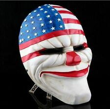Online PAYDAY 2 Dallas Mask Heist Joker Costume Props Collection Cosplay Mask