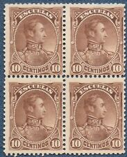 VENESZUELA 1882/8 Michel S36  MNH  (B304)  Block of 4