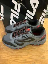NEW Men's Fila Reminder Grey Red Black Leather Hiking Athletic Shoe Pick Size