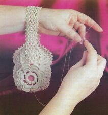 Victorian Thread Holder For Crocheting Digest Size Crochet Pattern Instructions