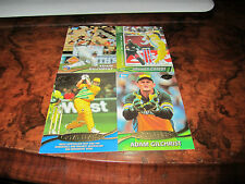 BULK LOT CRICKET AUSTRALIA TEST & ONE DAY ADAM GILCHRIST 4 CARD LOT