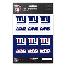 New NFL New York Giants Die-Cut Premium Vinyl Mini Decal / Sticker Pack