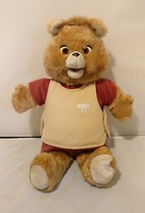 Vtg 1985 ORIGINAL Teddy Ruxpin Doll Bear Fully Dressed With Tape (Doesn't Work)