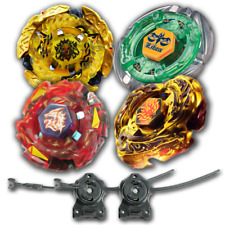 Beyblade 4 Pk Hell Hades Kerbecs+Meteo Red+LDrago Gold+Flame Libra w/ LL2+Cord