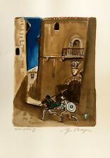 "Yves BRAYER - ""La Célestine"" - 1976 - Pochoir original signé au crayon - VI"