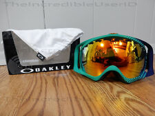 Oakley Crowbar HalfTone Medieval Blue Mint Leaf Fire Iridium Green Goggles RARE!
