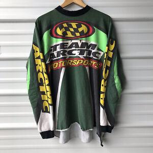 VTG 90S Team Arctic Cat Motorsports Racing Snowmobile Cotton Jersey USA Mens XXL
