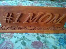 Handmade wooden sign #1mom