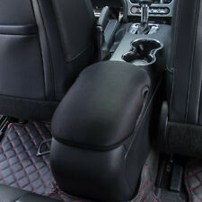 BLK Neoprene Center Console Armrest Pad Cover for Ford Mustang 2015-2017