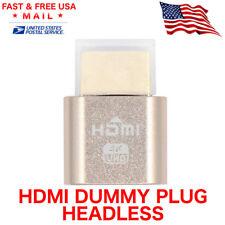 HDMI dummy plug Display Emulator Headless Ghost 1920 x 1080 Mining Crypto ETH US
