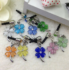 3.5mm Crystal Flower Earphone Anti Dust Plug Cap Stopper For iPhone HTC Samsung