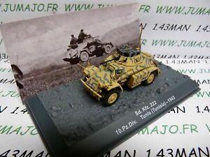 PZ17U Tank militaire 1/72 PANZER n°17 SdKfz 222 10 pz div Tunis 1943
