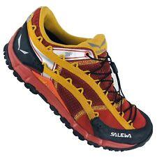 Salewa Men's 9.5 Red Hiking Trail Shoes Vibrant Soles