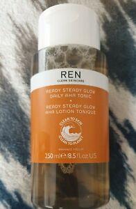 REN Clean Skincare Ready Steady Glow Daily AHA Tonic 250ml, Full Size, Brand New