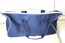 New BLUE CANVAS DUFFLE All Purpose Gym Travel Bag Luggage