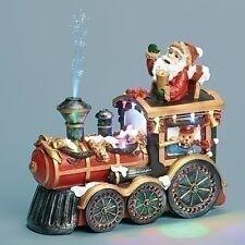 "New Roman Inc Musical 10"" Led Santa In Train Engine 30312"