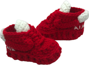 Baby Shoes Crochet Red Air Force Off Sneakers Infant Shoes Girl Boy slipper