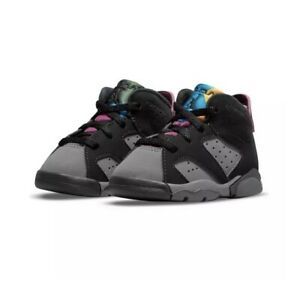 Nike Air Jordan 6 Bordeaux Black Light Graphite Dark Grey Purple Toddler TD Size