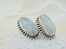 Oval Sterling Silver 925 Post Earrings New listing