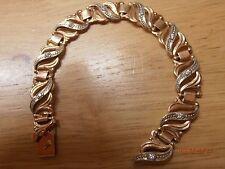 "Not Scrap 14k 14ct 585 Solid Rose Gold Bracelet, Weight:14.46g Length:6.75""/17cm"