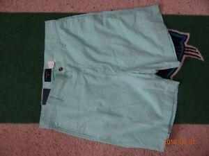 NWT MENS SADDLEBRED  FLAT FRONT OXFORD CLOTH  SHORTS 34 Waist Aloe Green