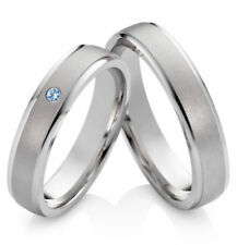 Echtschmuck-Ringe im Band-Stil aus Sterlingsilber Topas