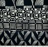 LOT OF 4 1 YARD CUTS OF 100% COTTON HANDMADE QUILTING BATIK FABRIC BLACK & WHITE