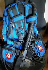 AUDAXPRO GANGAA, Wing Tauchjacket, Tarierjacket,blau, Inflator, Bleitaschen, S/M