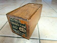 Stanley RULE & LEVEL  No.45 Combination Plane - BOXED BLADES EXTRA'S 1900's