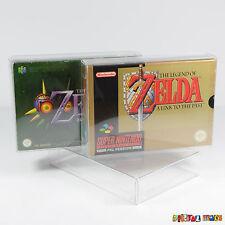5 protectores SNES N64 Juego Caja X-ultra fuerte plástico Pet 0.5mm Super Nintendo